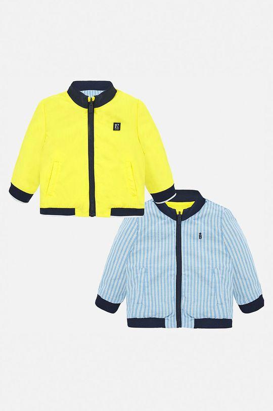 galben Mayoral - Geaca reversibila pentru copii 74-98 cm De băieți