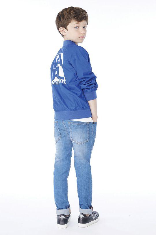 albastru Karl Lagerfeld - Geaca bomber pentru copii 162-174 cm De băieți
