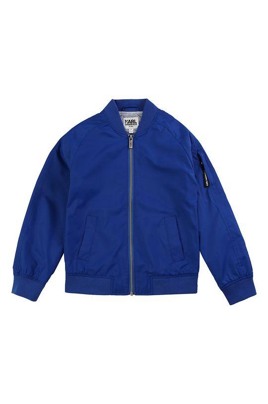 Karl Lagerfeld - Geaca bomber pentru copii 162-174 cm albastru