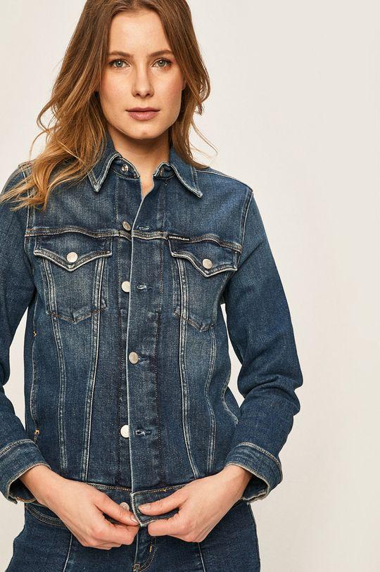 Calvin Klein Jeans - Geaca jeans bleumarin