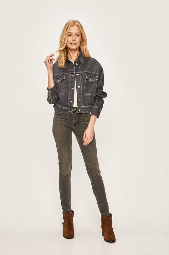 Pepe Jeans - Džínová bunda Sue námořnická modř