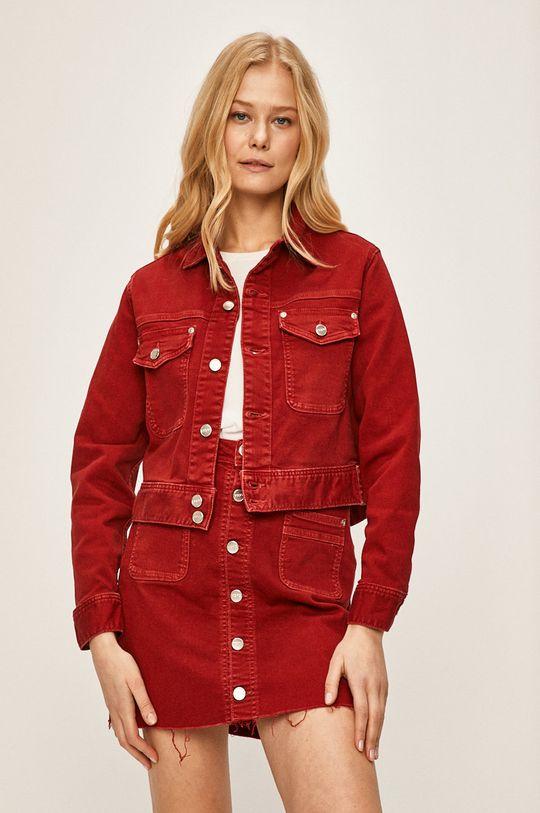 červená Pepe Jeans - Rifľová bunda Tiffany Dámsky