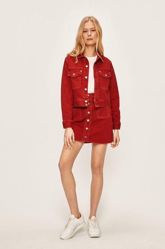 Pepe Jeans - Rifľová bunda Tiffany červená