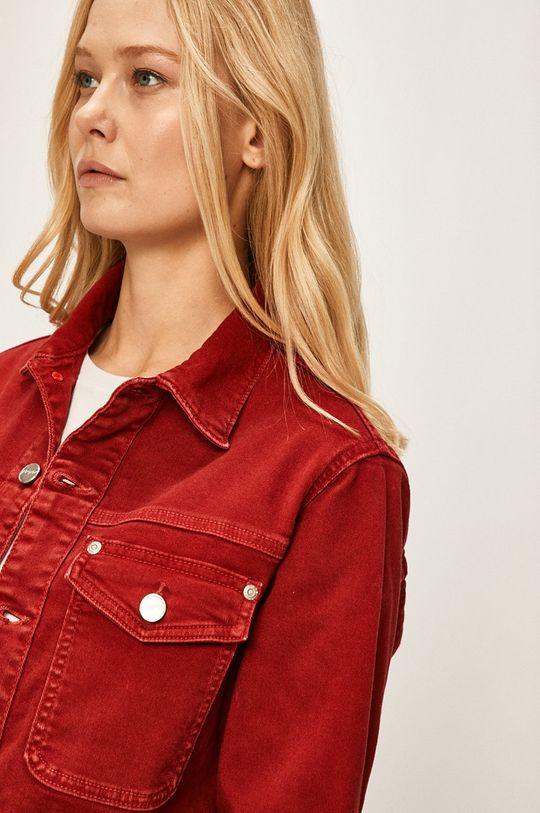 červená Pepe Jeans - Rifľová bunda Tiffany