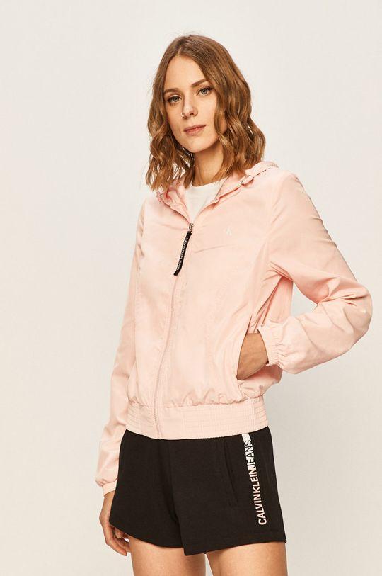 pastelová ružová Calvin Klein Jeans - Bunda Dámsky