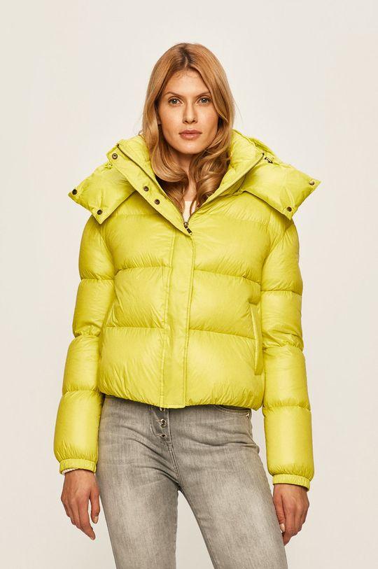 Patrizia Pepe - Péřová bunda žlutě zelená