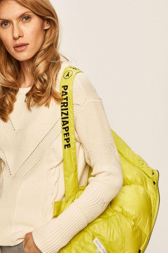 žlutě zelená Patrizia Pepe - Péřová bunda