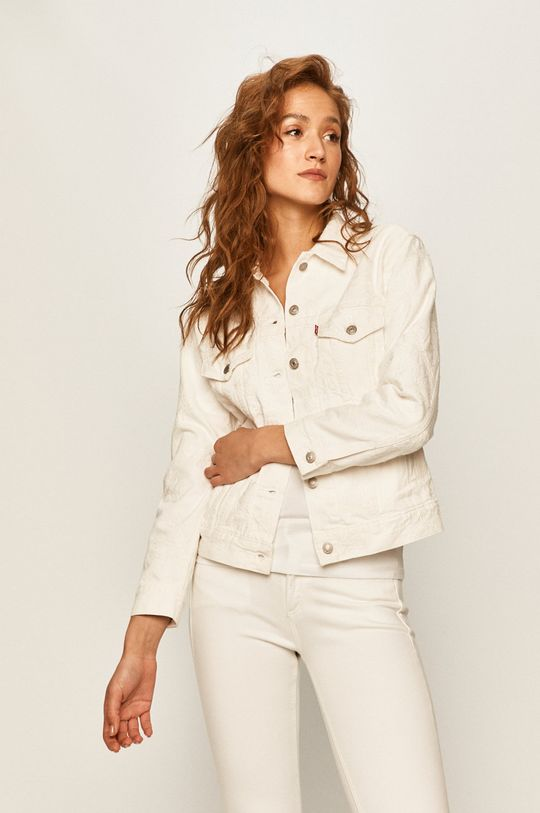 biały Levi's - Kurtka jeansowa
