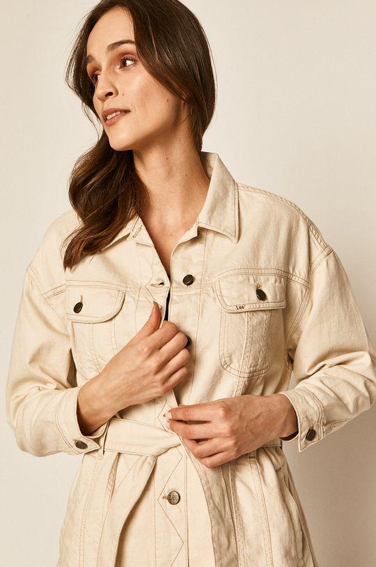 kremowy Lee - Kurtka jeansowa