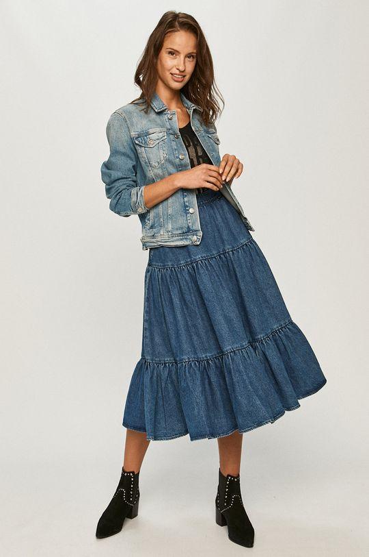 Pepe Jeans - Kurtka jeansowa Rose niebieski