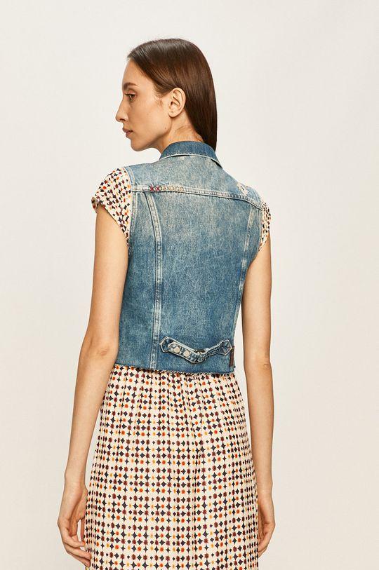 Pepe Jeans - Vesta de blugi Elsie Needle 90% Bumbac, 10% Alt material