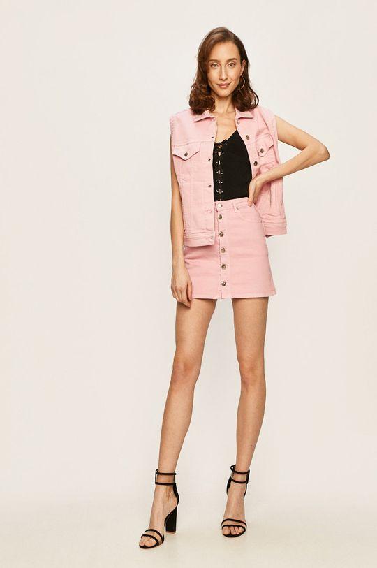 Pepe Jeans - Vesta de blugi Winona x Dua Lipa roz