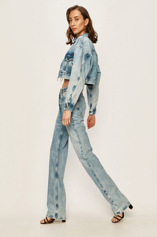 Pepe Jeans - Geaca jeans Rogue x Dua Lipa albastru