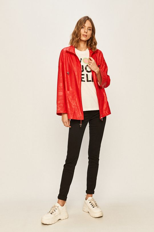 Desigual Sport - Nepremokavá bunda červená