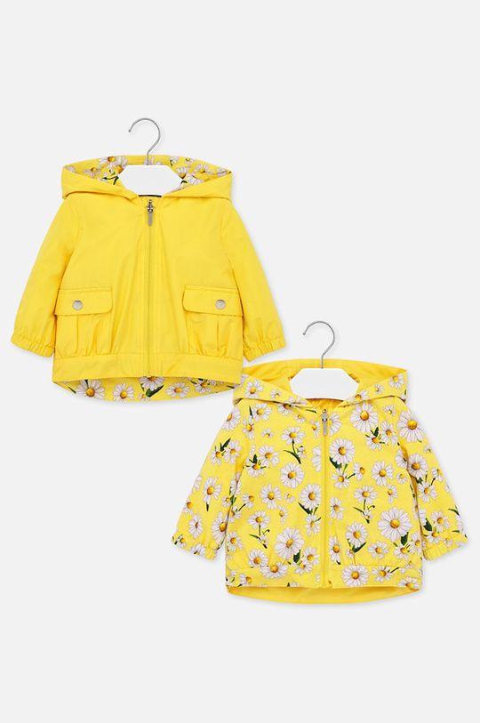 жълт Mayoral - Детско двулицево яке 68-98 cm Момиче