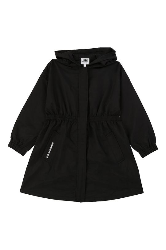 negru Karl Lagerfeld - Parka pentru copii 138-150 cm De fete