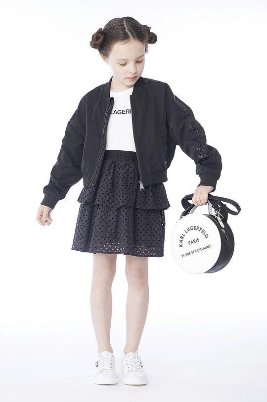 černá Karl Lagerfeld - Dětská bomber bunda 150 cm Dívčí
