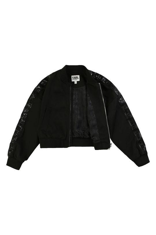 Karl Lagerfeld - Dětská bomber bunda 150 cm Podšívka: 56% Polyester, 44% Viskóza Hlavní materiál: 100% Polyester Stahovák: 2% Elastan, 98% Polyester