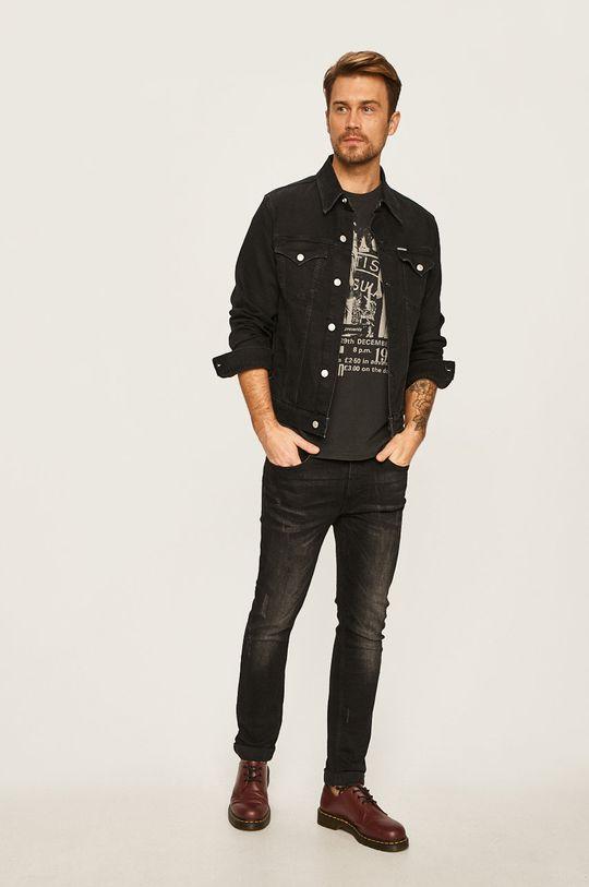 Calvin Klein Jeans - Geaca jeans negru