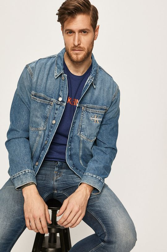 modrá Calvin Klein Jeans - Džínová bunda Pánský