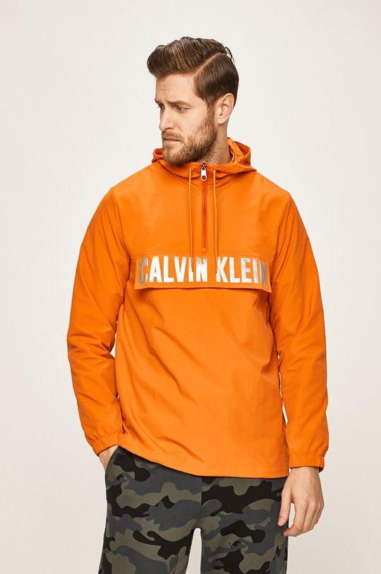 oranžová Calvin Klein Performance - Bunda Pánský