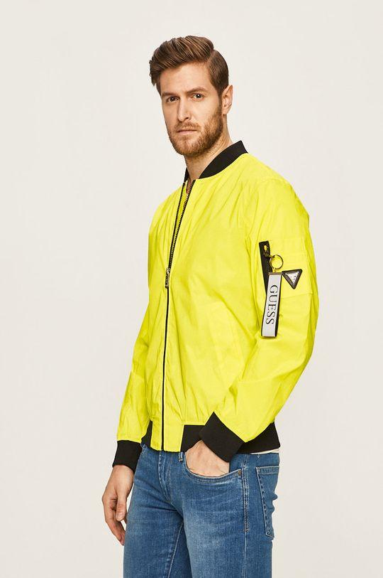 żółto - zielony Guess Jeans - Kurtka bomber