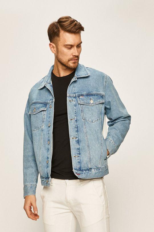 modrá Tommy Jeans - Rifľová bunda Pánsky