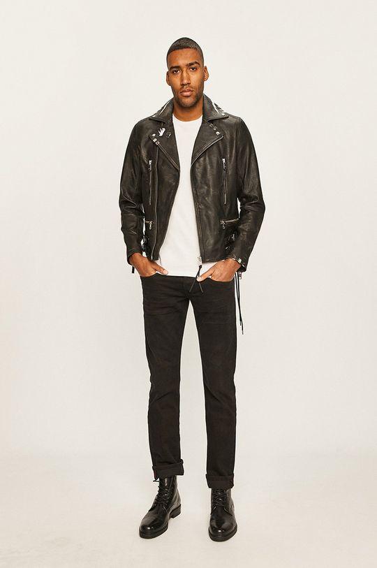 Diesel - Kožená bunda černá