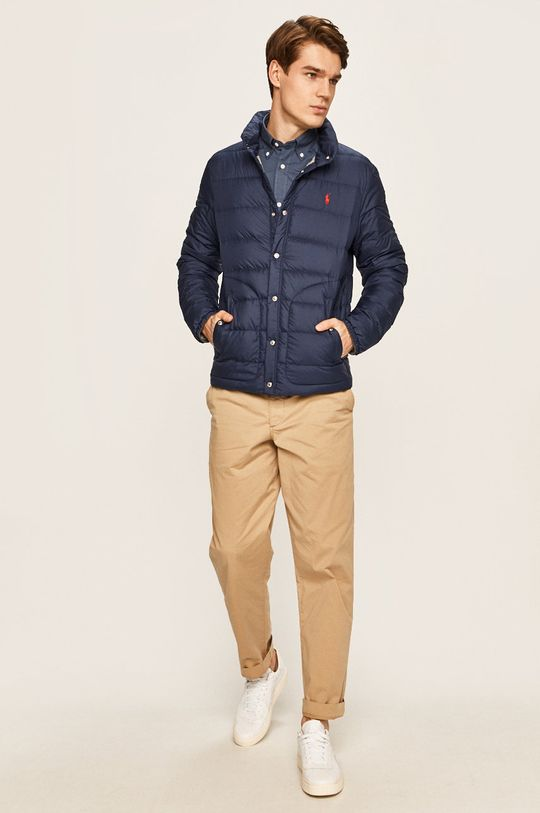 tmavomodrá Polo Ralph Lauren - Páperová bunda Pánsky
