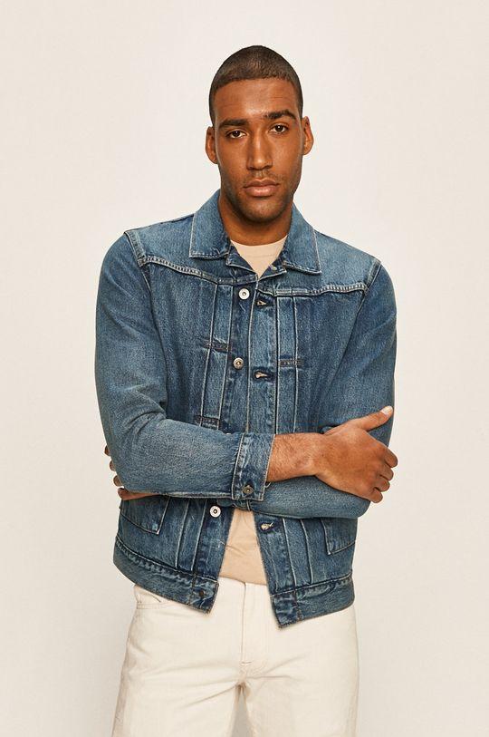 granatowy Levi's - Kurtka jeansowa Męski