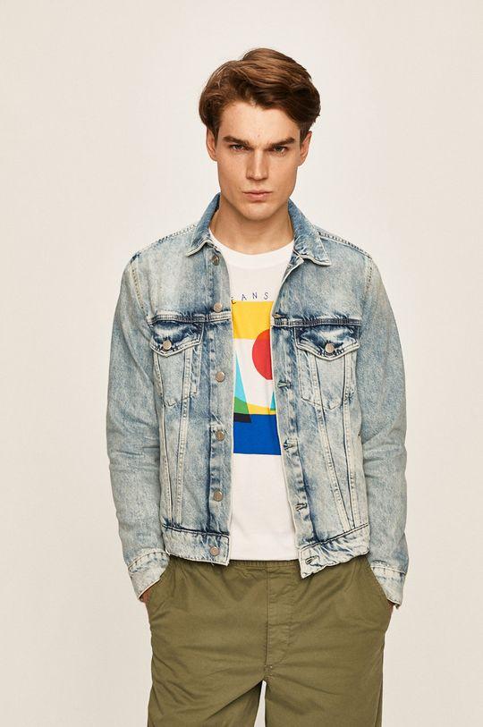 albastru Pepe Jeans - Geaca jeans Pinner De bărbați