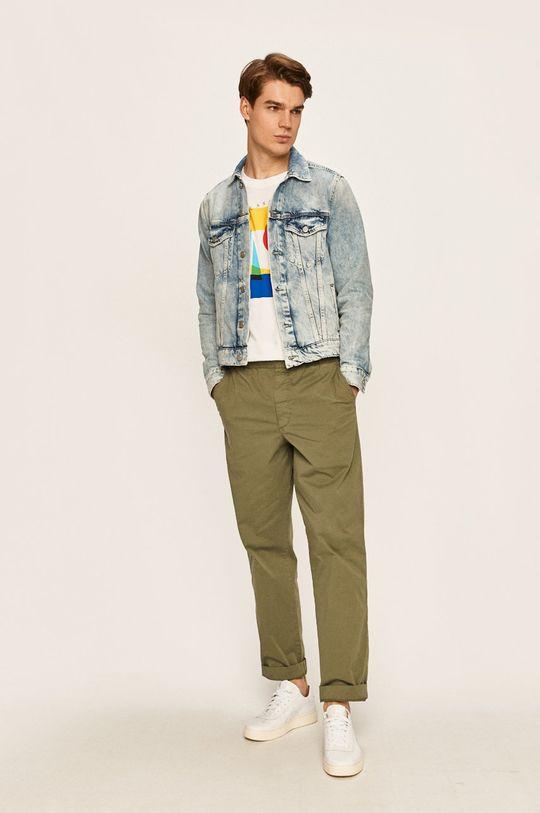 Pepe Jeans - Geaca jeans Pinner albastru