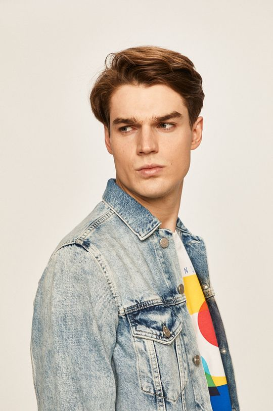 albastru Pepe Jeans - Geaca jeans Pinner