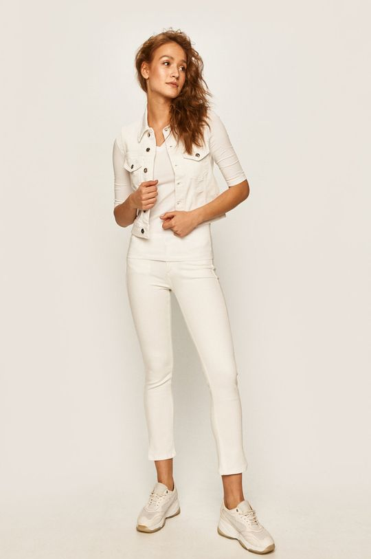 Calvin Klein Jeans - Vesta jeans alb