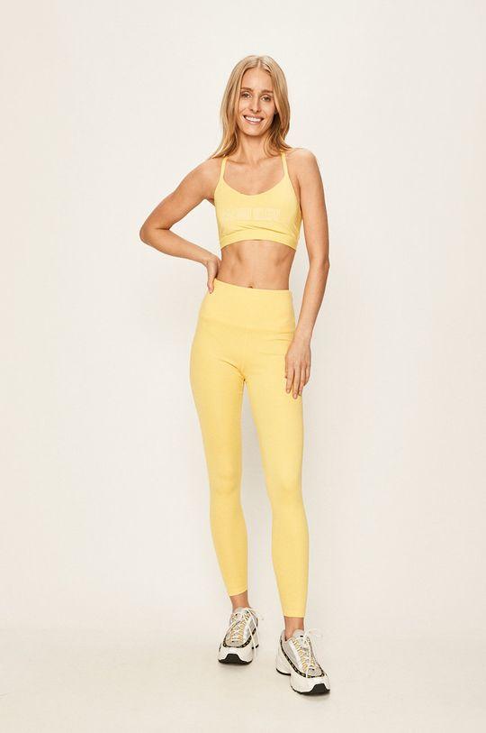 Calvin Klein Performance - Legíny žltá
