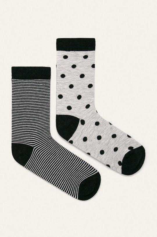 sivá John Frank - Ponožky (2 pak) Dámsky