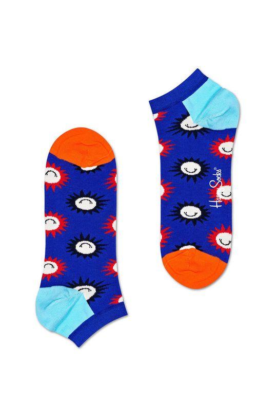 modrá Happy Socks - Kotníkové ponožky Big Dot (2-pack) Dámský