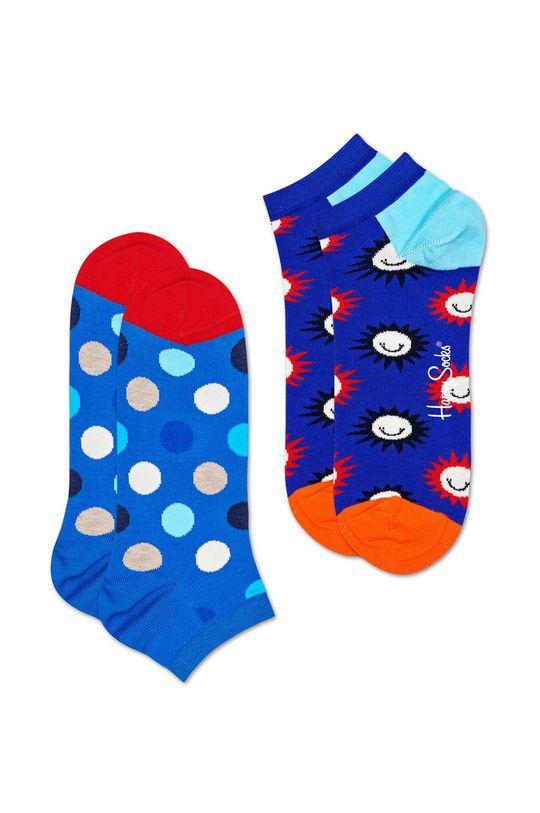 Happy Socks - Kotníkové ponožky Big Dot (2-pack) modrá