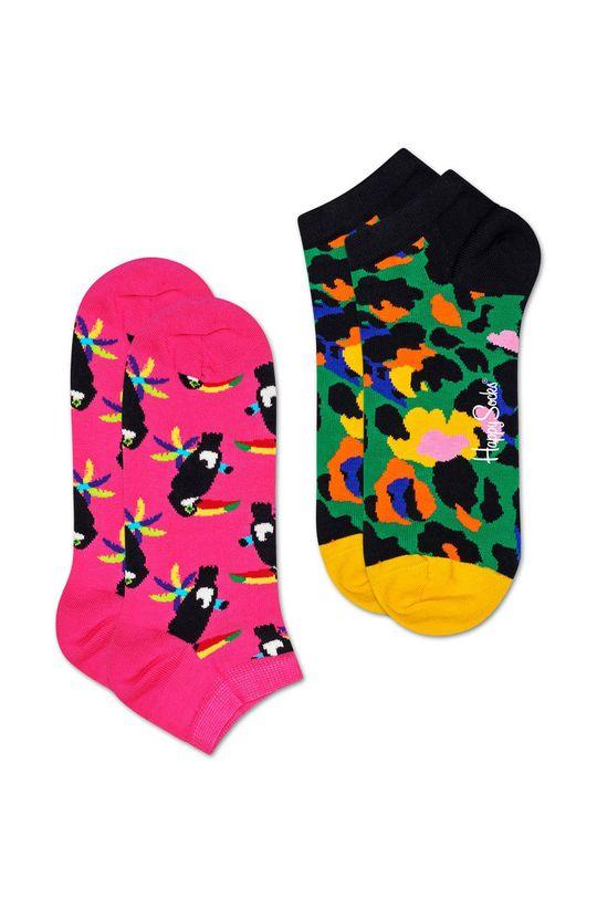 růžová Happy Socks - Kotníkové ponožky Toucan (2-pack) Dámský