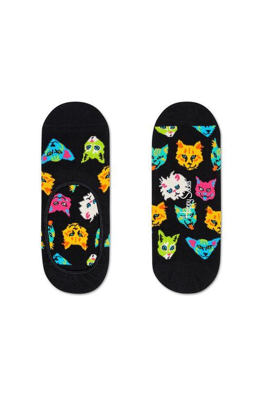 černá Happy Socks - Kotníkové ponožky Funny Cat Dámský