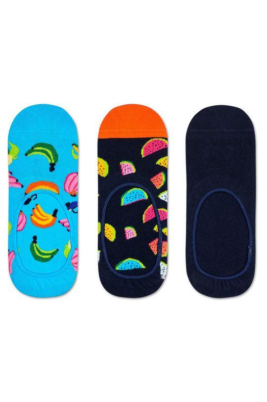 vícebarevná Happy Socks - Kotníkové ponožky Banana (3-pack) Dámský