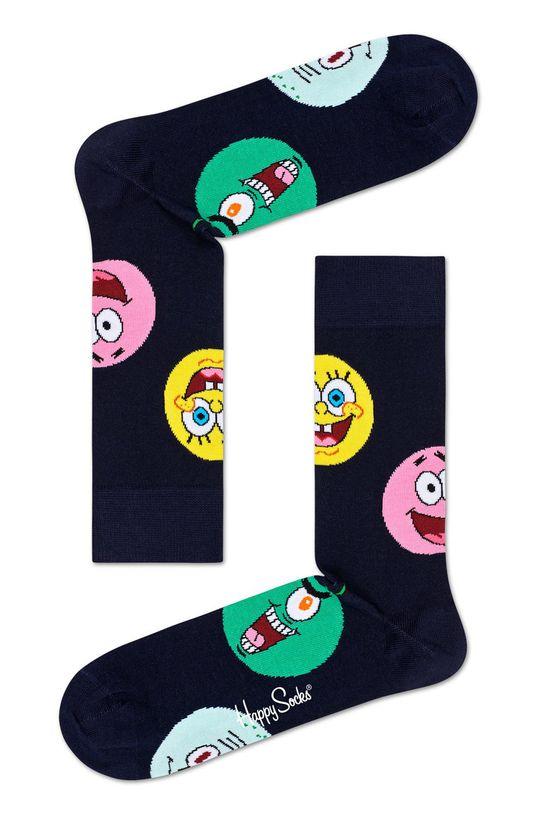 černá Happy Socks - Ponožky x Sponge Bob Circle Of Friends Dámský