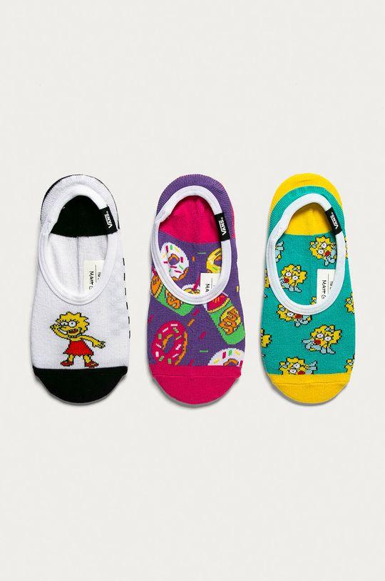 viacfarebná Vans - Členkové ponožky x The Simpsons (3-pak) Dámsky