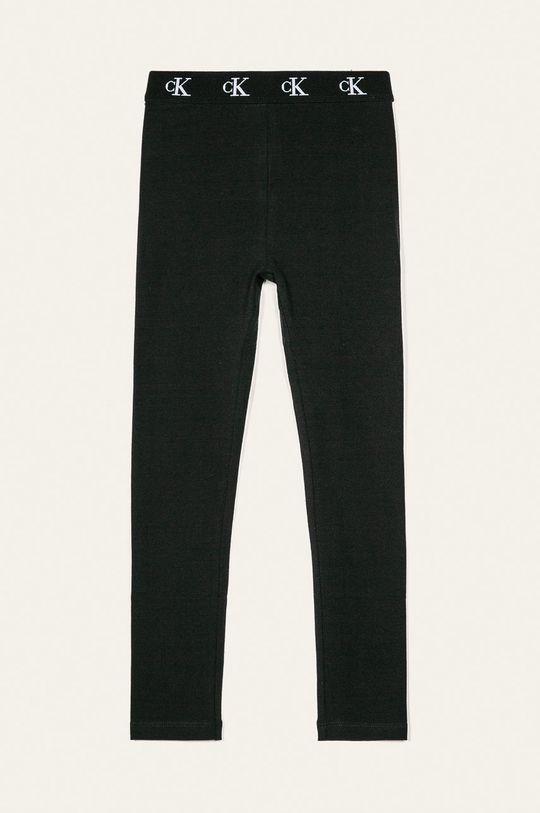 čierna Calvin Klein Jeans - Detské legíny 116-176 cm Dievčenský
