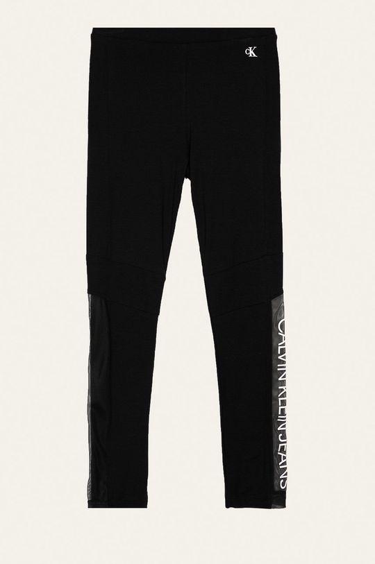 čierna Calvin Klein Jeans - Detské legíny 116-176 cm. Dievčenský