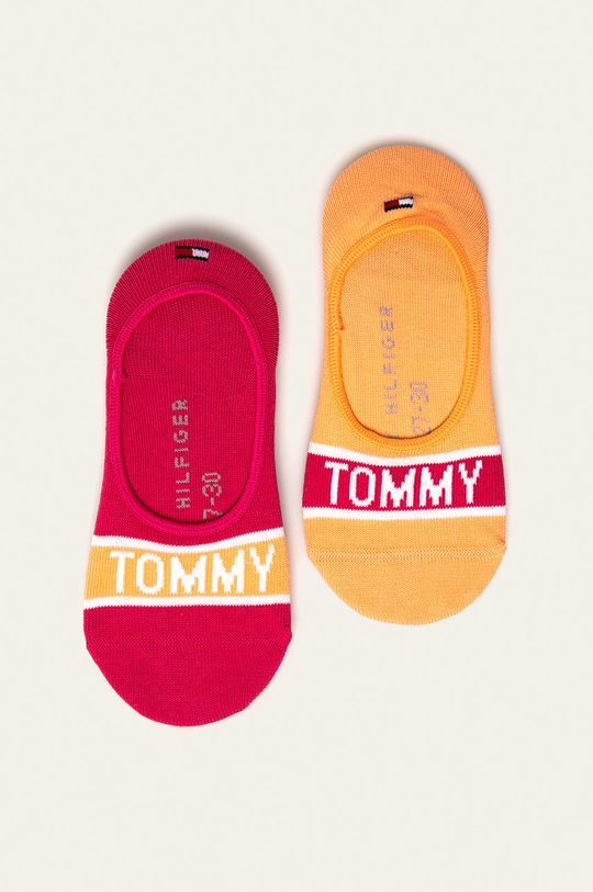 broskyňová Tommy Hilfiger - Detské členkové ponožky (2-pak) Detský