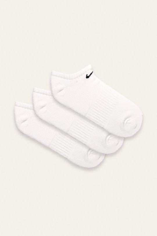 biela Nike - Členkové ponožky (3 pak) Pánsky
