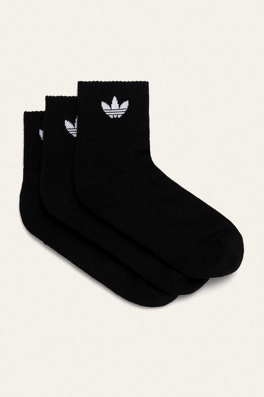czarny adidas Originals - Skarpety (3-pack) Męski