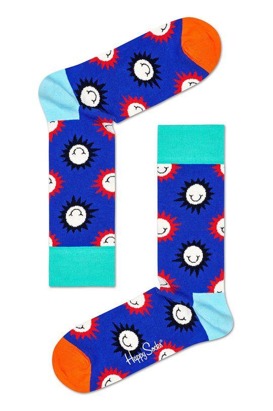 modrá Happy Socks - Ponožky Sunny Smile Sock Pánsky
