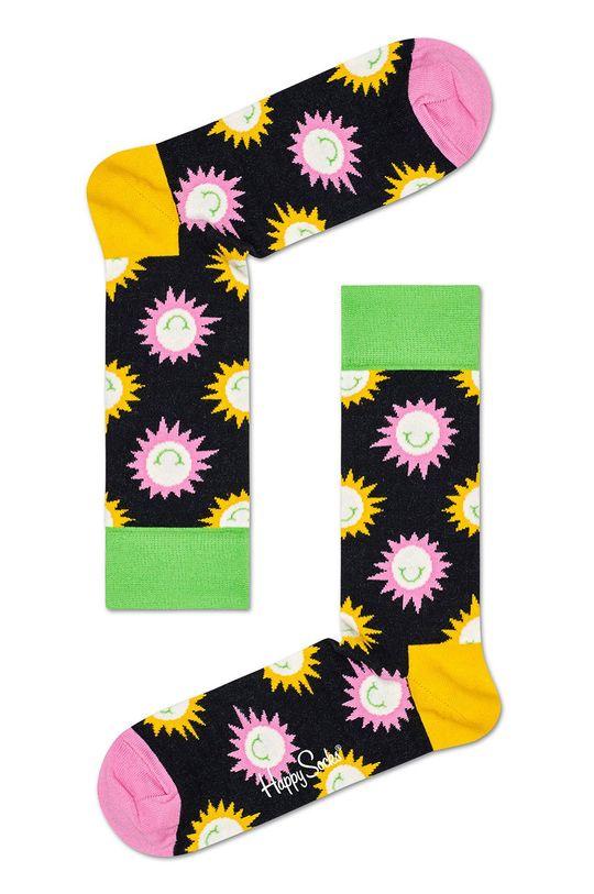 čierna Happy Socks - Ponožky Sunny Smile Sock Pánsky
